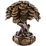 Pacific Giftware Feng Shui Bronze Golden Money Coin Prosperity Tree Home Decoration Gift (Bronze)