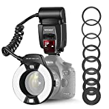 Neewer Macro TTL Ring Flash Light with LED AF assist lamp for Canon E-TTL TTL Cameras...