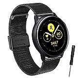 Hatolove Compatible con Galaxy Watch Active/Active 2 40mm 44mm Correa, 20mm Correa de reloj de acero...