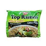 Nissin Top Ramen Instant Noodle Soup (Chili Flavor) - 3oz (Pack of 15)