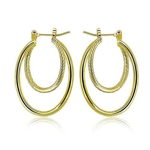 PAKSHO 9ct Gold Hoop Earrings For women mothers day,Jewelry European Style