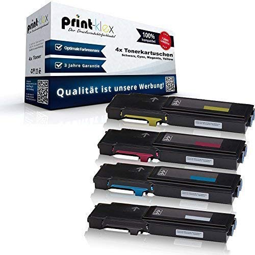 4x XXL Cartucce Toner Compatibili per Xerox Workcentre 6605dn 6605dnm 6605n 6605 Dn Dnm N Nero Ciano Magenta Yellow - 106 R02229 106 R02230 106 R02231 106 R02232 - Office Plus Serie