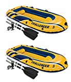 oldzon Challenger 3 Inflatable Boat Set with Pump and Oars, 2 Pack With Ebook