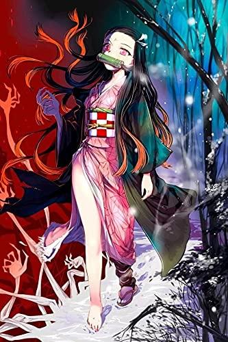 Xevkkf 5D Kit de Pintura de Diamantes Adulto,Anime japonés clásico Diamond Painting Rhinestone artístico Bordado de Punto de Cruz Bordado Artesanal decoración(40x50cm)