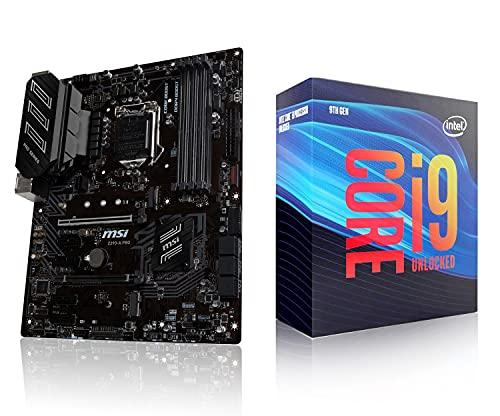 Micro Center Intel Core i9-9900K Desktop Processor Combo 8 Cores up to 5.0 GHz Turbo Unlocked LGA1151 300 Series Bundle with MSI Z390-A PRO ATX Gaming Motherboard M.2 DDR4 HDMI Gigabit LAN
