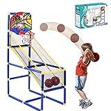 Juego de baloncesto para niños Arcade – Aro de baloncesto y soporte para niños, mini red de baloncesto y bombas, juego de arcade, juego de deportes para 3 años en adelante – uso en interior/exterior