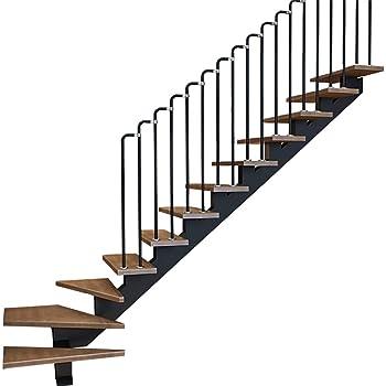 YIKE-Pasamanos Barandilla de Escalera Negra con Forma de 7, Cerca de barandilla de Tubo de Acero al Carbono Industrial para Viento Escalera Interior para el hogar, D Puede Personalizarse: Amazon.es: Hogar
