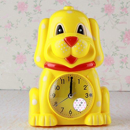 Abenily Hochwertiger Wecker Schöne Cartoon Tier Stille Wecker mit Nachtlicht für Kinder Kinder Studenten (gelb)