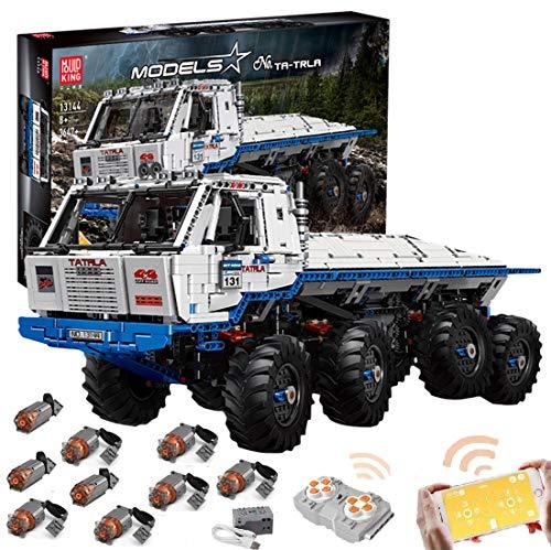 Foxcm Technik Bausteine Off-Road LKW, Technic Tatra Geländewagen mit Fernbedienung und 9 Motoren, 3640 Klemmbausteine - Kompatibel mit Lego Technik
