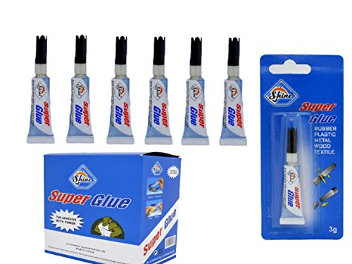 SHINE 6 X SUPER GLUE 3G WATERPROOF STRONG ADHESIVE RUBBER PLASTIC hout
