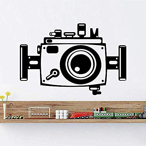 Muursticker vinyl sticker decor kunst camera fototechniek wandtattoo Home decoratie camera wandsticker fotografie winkel kunst decor 85x57cm