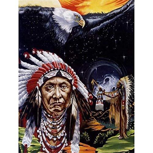 YINGXIN134 Rompecabezas de 3000 Piezas para Adultos, Anciano Tribal con águila, Rompecabezas Divertido, Juego Educativo Familiar, Juguetes, Regalo para Adultos, Adolescentes, 122 × 81 cm