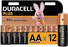Duracell - Plus AA, Batterie Stilo Alcaline, Confezione da 12 Pacco del Produttore, 1.5 volt LR06 MX1500