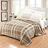 i-baby Thick Sherpa Blanket Double Layers Flannel Fleece Throw Blanket King Size for Autumn Winter...