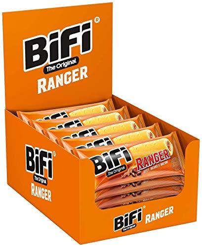 BiFi Ranger – 20er Pack (20 x 50 g) – Herzhafter Salami Snack im Teigmantel – Wurstsnack to go mit Beef, Beans & Bacon