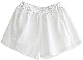 e612cbe5946b2b LvRaoo Pantaloncini Estivi da Donna Pantaloni Elastico in Vita Shorts per  Il Tempo Libero