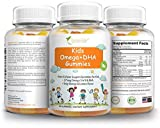 Naturelite Omega 3 6 9 DHA Vegetarian Gummies for Kids | Made from Algae & Chia -NO Fish Oil, NO Krill | Supports Brain & Immune Functions | Non-GMO & Free of Gluten, Peanuts, Dairy & Soy | 60 Gummies