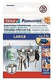 tesa Powerstrips Large - Doppelseitige Klebestreifen zur Montage von Gegenständen auf glatten Oberflächen - Bis zu 2kg Halteleistung - 10er Pack Powerstrips