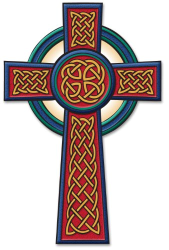 Irish Celtic Passion Cross Decal Vinyl Window Sticker
