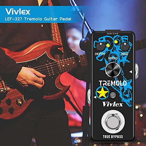 Vivlex LEF-327 Vibrato Tremolo Pedal de efectos para guitarra eléctrica con interruptor True Bypass
