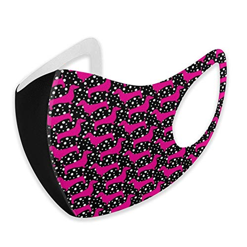 Fsrkje Lunares Dachshunds (negro y rosa) al aire libre cálido cortavientos bandanas Outwear