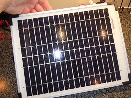 pannello solare 10 watt 12 V policristallino kit per camper e caravan campeggio canottaggio + 3 m cavo & morsetti a coccodrillo