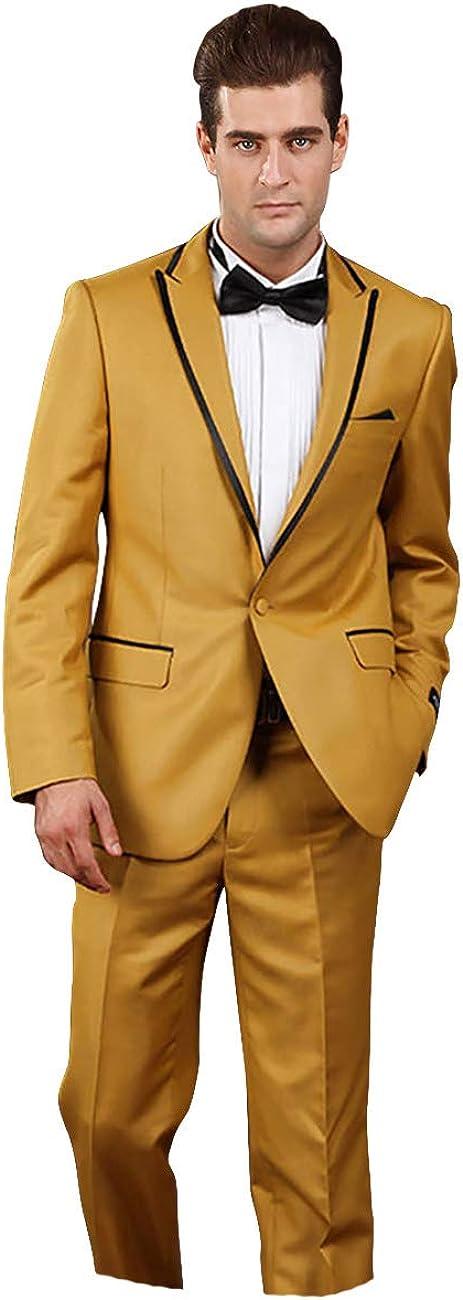 Premium Mens Classic Tailored Wedding Slim Fit Tuxedo Gents Groom Stylish Suit Blazer Pant