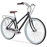 sixthreezero Explore Your Range Women's 3-Speed Commuter Hybrid Bike, 700x38c Wheels, Navy Blue, 17'/One Size