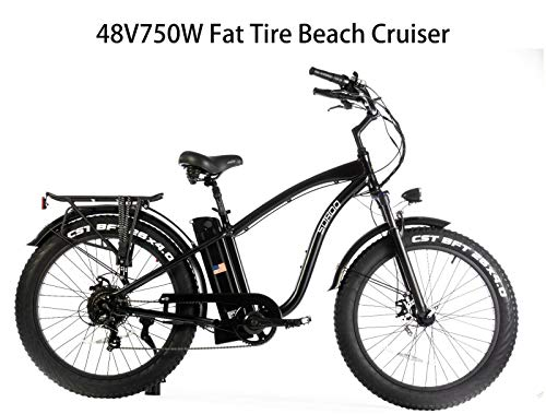 Lowest Prices! SOHOO 48V750W16AH Beach Cruiser Electric Bicycle Fat Tire E-Bike Mountain Bike