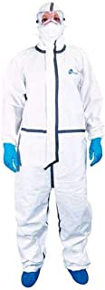 D-Passion Biohazard PPE kit with 90 GSM Laminted Polypropylene Spunbond Non-Woven (White) Pack of 20