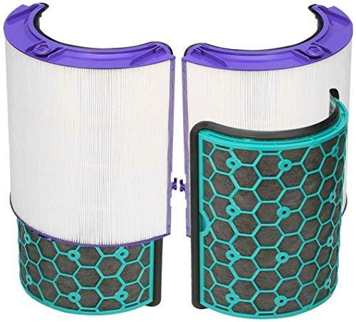 Quailitas Filtro HEPA y filtro de carbón activado compatible con Dyson Pure Cool DP04 HP04 TP04 ventilador de torre purificador de aire