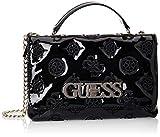 Guess Chic Convertible Flap, bolso bandolera para Mujer, Negro (Black), 6x18x27 Centimeters (W x H x L)