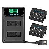 SmilePowo 2PCS Dual Battery,LCD Display USB Charger for GoPro Hero 8 Black,Hero 7 Black, Hero 6 Black,Hero 5 Black,Hero 2018,AHDBT-501,Gopro Accessories,GOPRO Batteries