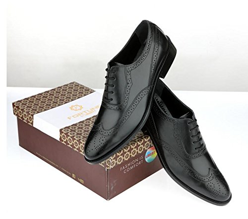 Liberty Leather Wingtip Oxford Dress Shoe 10.5 Black