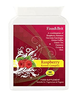 SUPER STRONG RASPBERRY KETONE COMPLEX with Garcinia Cambogia, Green Coffee and Green Tea, 1000s SOLD Top Weight Loss Supplement Fat Burning Slimming Pills Diet Capsules Natural Fat Burner Tablets by Finn & Brit