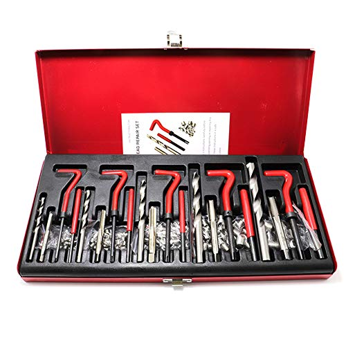 131Pcs Helicoil Thread Repair Kit M5 M6 Metric8 Metric10 M12 Threaded Tool Twist Drill Bits