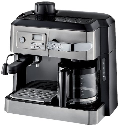 DELONGHI BCO330T and Espresso Machine, 24' x 14' x 14', Black/Stainless Steel