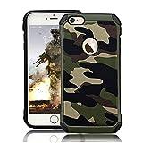 LAPOPNUT Coque pour iPhone 6/6S Hybride Heavy Duty Armée Double Couche Robuste...