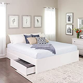 King Select 4-Post Platform Bed with 4 Drawers, White (B07FPWHXT2) | Amazon price tracker / tracking, Amazon price history charts, Amazon price watches, Amazon price drop alerts