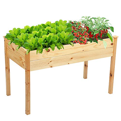 Raised Bed for Garden,Wooden Raised Planter for Vegetables Fruits Raised...
