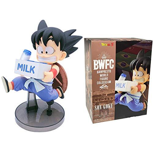 cheaaff BWFC2 Son Goku Milk Dragon Ball Z Anime Juguetes Bonitos para niños Banpresto World Figure Colosseum Goku Modelo DBZ Action Figma Doll