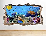 Peces acuario vida marina submarino lindo pasillo ventana pared calcomanía arte pegatinas vinilo habitación-PegatinasDe Pared Calcomanía Decoración - 50x70cm