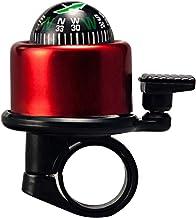 GARNECK Kompas Fietsen Bellen Creatief Metalen Kompas Stuur Fietsbel Ring Voor Fiets Mountainbike Accessoires (Rood)