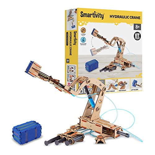 Smartivity Hydraulic Crane STEM Educational DIY Fun Toys, Educational & Construction based Activity Game for Kids 8 to 14, Gifts for Boys & Girls, Learn Science Engineering Project, Made in India
