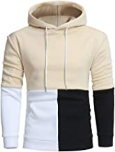 Graphic Tees For Men Charberry Men Long Sleeve Hoodie Stitching Color Jacket Outwear Sport Coat