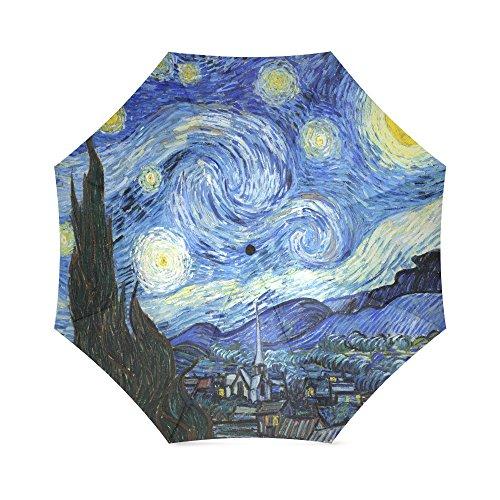 "RainStoppers Umbrellas Umbrella - Fine Art Design: Starry Night by Van Gogh - 42"""