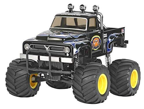 Tamiya TAM58547 The Midnight Pumpkin, Black Edition 1/12 Monster Truck Kit, Brown