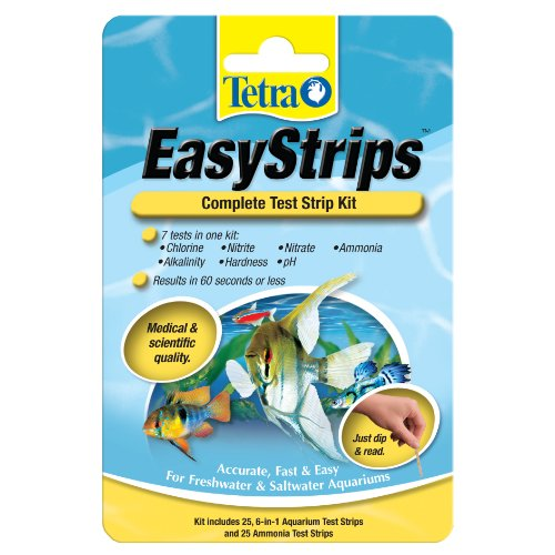 Tetra EasyStrips Complete Kit 25, 6 in1 Testing Strips and 25 Ammonia Testing Strips