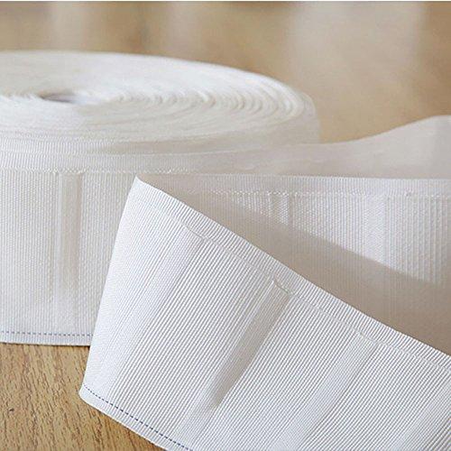 カーテンテープ 白 綿 6m