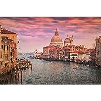 木製パズル大人用ジグソー1000個、ヴェネツィアの風景パズル,難しいゲームのおもちゃ,ウォーターシティの装飾壁画,子供向けクリエイティブギフト,75cmx50cm,004